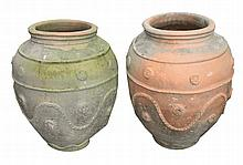 Pair nineteenth-century large Portuguese terracotta urns