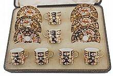 Twelve piece Crown Derby coffee set