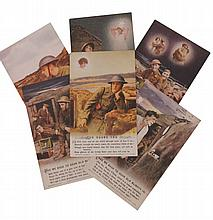First World War set of six military postcards