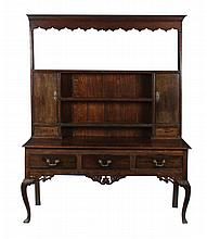 Eighteenth-century period oak dresser, circa 1780