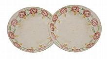Pair of early nineteenth-century sponge ware bowls