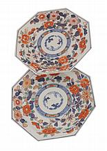 Pair of eighteenth-century Chinese Imari plates