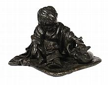 Large nineteenth-century Japanese bronze group