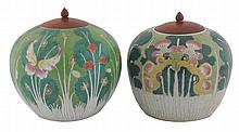 Two Qing period Chinese famille rose ginger jars and covers