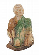 Chinese Ming period Sancai glazed seated figure