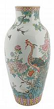 Large Chinese Republican famille rose vase