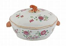 Large eighteenth-century Chinese famille rose tureen and cover