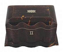 Tortoiseshell tea caddy