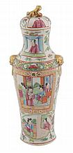 Nineteenth-century Chinese famille rose vase and cover