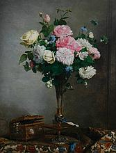 Paul C. Jance, 1840 - 1915 Still life of roses,