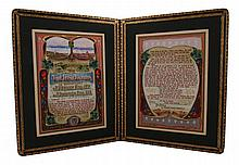Illuminated address from the Pupils of Monte Sant