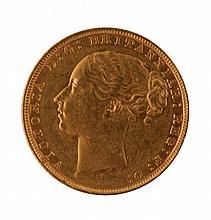 Gold sovereign, dated 1880