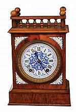 German Arts and Crafts 8 day walnut clock