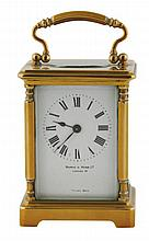 Nineteenth-century French brass carriage clock