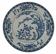 Eighteenth-century Chinese blue and white charger