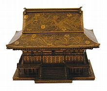 Late nineteenth-century Japanese cabinet in the form of a pagoda