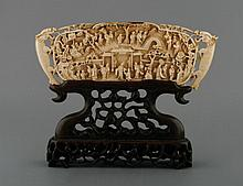 Chinese Qing period ivory scholar's table screen