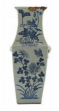 Nineteenth-century Chinese blue and celadon vase