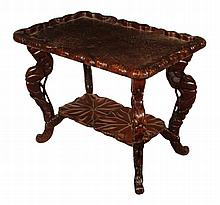 Carved nineteenth-century Oriental occasional table