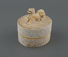 18th/19th century Chinese ivory oval box and cover