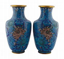Pair of Chinese early twentieth-century cloisonné vases