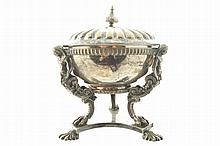 Nineteenth-century Austrian untested metal comport with lid
