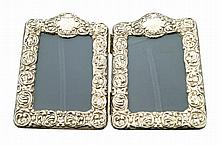 Vintage sterling silver double photo frame