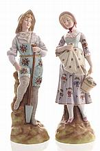 Pair of nineteenth-century German porcelain figures