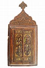 Eighteenth/nineteenth-century Persian lacquered travelling shrine