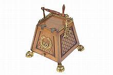Nineteenth-century period ormolu-mounted walnut Aesthetic Revival perdonium (coal box)