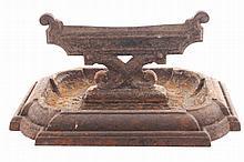 Nineteenth-century cast iron foot scraper