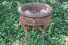Nineteenth-century cast iron jardinière