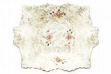 Vieux Paris porcelain flower pattern dish