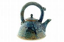 Twentieth-century art pottery kettle