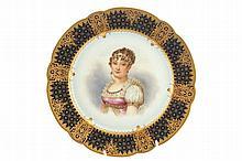 Set of eleven nineteenth-century Paris porcelain portrait plates