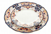 Group of three Booths oval graduated meat platters