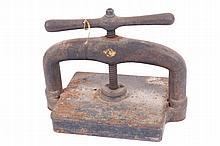 Nineteenth-century cast iron book press