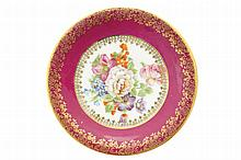 Floral decorated dish