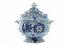Nineteenth-century Davenport porcelain tureen and cover