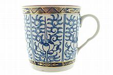 Nineteenth-century blue and white coffee cup