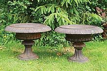 Pair of nineteenth-century cast iron jardinières