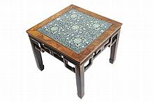 Pair nineteenth-century Chinese hardwood low tables