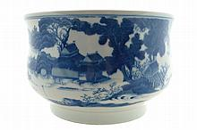 A blue and white Chinese censer of gui shape, eighteenth century