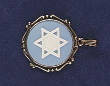 Vintage Wedgwood Star of David gold pendant