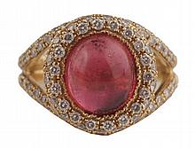Diamond and carbachon ring
