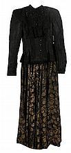 Edwardian ladies peplum jacket and full length