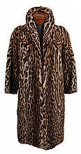 Vintage ocelot fur coat