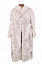 Blue fox fur coat