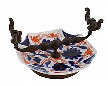 Chinese Qing period Imari quill stand 13 cm. wide