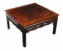 Qing period hardwood low table of square